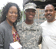 Cadet Criss parent's visit him during homecoming weekend
