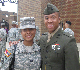 Cadet Martin and First Lieutenant Jordan from United States Marine Corps